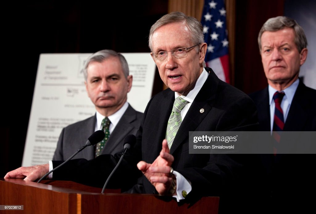 Senators Reid, Schumer, And Boxer Discuss Senate Jobs Bill