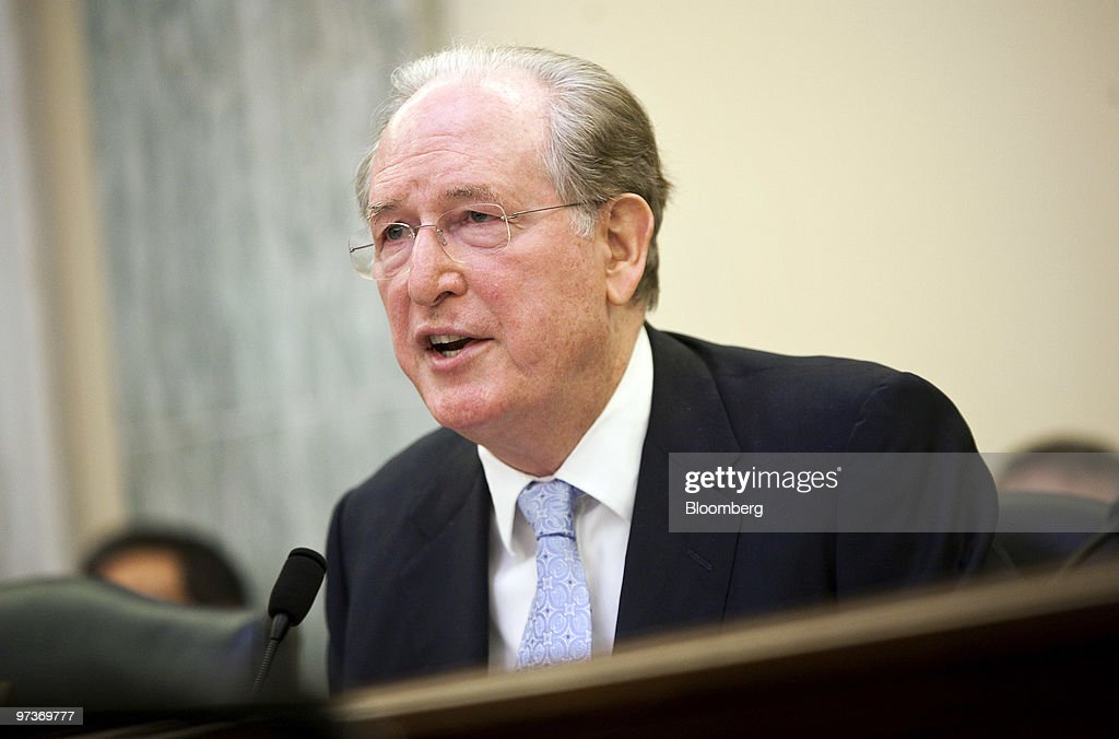 Senator <a gi-track='captionPersonalityLinkClicked' href=/galleries/search?phrase=Jay+Rockefeller&family=editorial&specificpeople=217570 ng-click='$event.stopPropagation()'>Jay Rockefeller</a> chairs a hearing of the Senate Commerce, Science, and Transportation Committee on recalls by Toyota Motor Corp., in Washington, D.C., U.S., on Tuesday, March 2, 2010. The U.S. National Highway Traffic has received complaints of 43 fatal crashes involving unintended acceleration in Toyota Motor Corp. vehicles since 2000, up from 26 reported through mid-February. Photographer: Joshua Roberts/Bloomberg via Getty Images