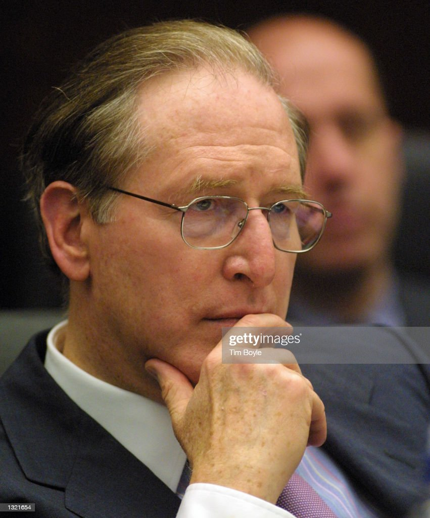U.S. Senator <a gi-track='captionPersonalityLinkClicked' href=/galleries/search?phrase=Jay+Rockefeller&family=editorial&specificpeople=217570 ng-click='$event.stopPropagation()'>Jay Rockefeller</a> (D-WV) ponders a remark during a hearing June 15, 2001 in Chicago. The hearing addressed air traffic congestion and capacity in the Chicago region and its effects on the national air traffic system.