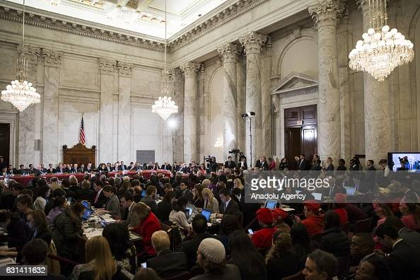 Senator Jeff Sessions gets sworn as the Senate Judiciary Committee holds the first hearing to examine whether or not they will confirm Presidentelect...