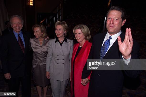 Senator Joe Lieberman his wife Hillary Clinton Tipper Gore and VP Al Gore