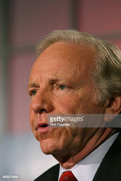 Senator Joe Lieberman participates in the AARP Democratic Presidential Candidate Forum at the Wayfarer Inn in Bedford New Hampshire