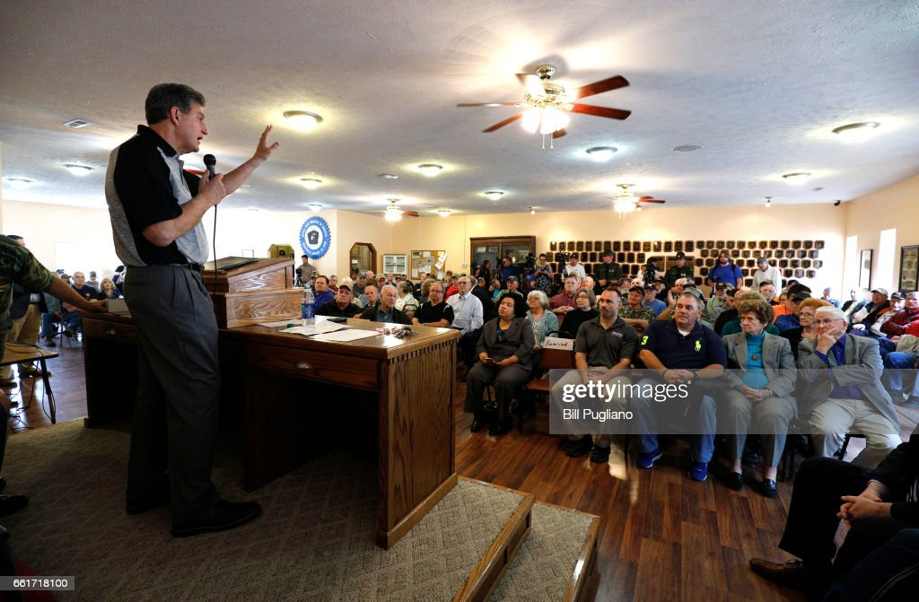 Sen. Joe Manchin Holds Town Hall Meeting With Coal Miners In Matewan, WV