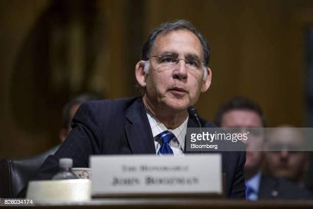 Senator John Boozman a Republican from Arkansas speaks during a Senate Finance Committee nomination hearing in Washington DC on Thursday Aug 3 2017...