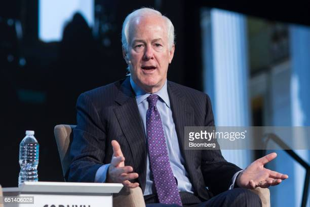 Senator John Cornyn a Republican from Texas speaks during the 2017 CERAWeek by IHS Markit conference in Houston Texas US on Friday March 10 2017...