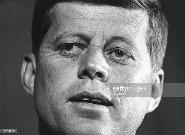 Senator John F Kennedy seeking the Democratic nomination for the presidential elections which he went on to win