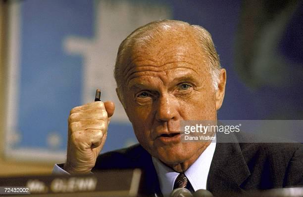 Senator John Glenn during Senate Foreign Relations Committee hearing