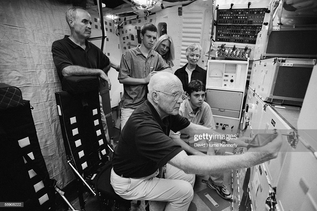 Senator John Glenn in training at the Johnson Space Center on August 1, 1998 in Houston, Texas.