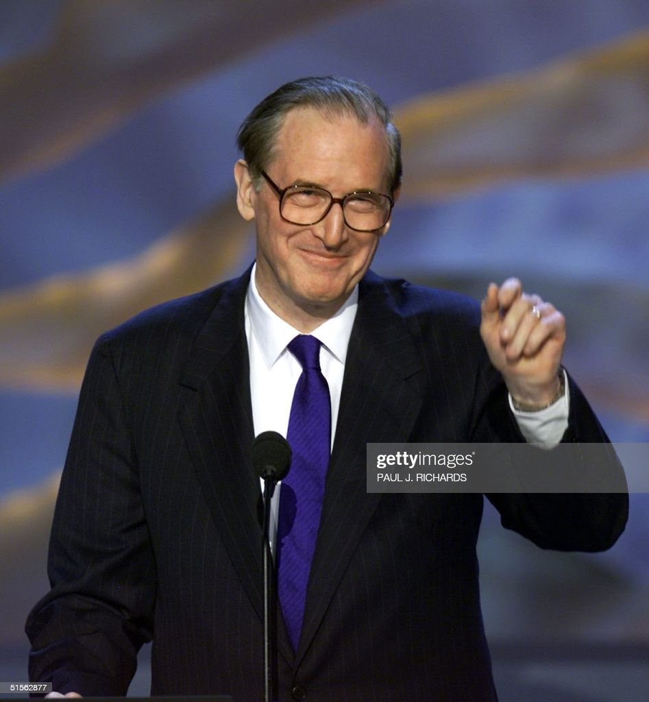 US Senator John 'Jay' Rockefeller IV (D-WV) gestures before addressing the Democratic National Convention at the Staples Center in Los Angeles, California, 16 August 2000. The convention is on its third day. (ELECTRONIC IMAGE) AFP PHOTO/Paul J. RICHARDS