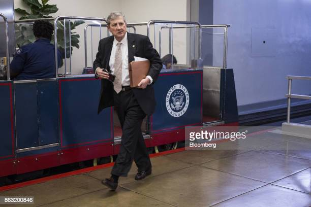 Senator John Kennedy a Republican from Louisiana walks through the Senate Subway before a vote in Washington DC US on Thursday Oct 19 2017 The year's...