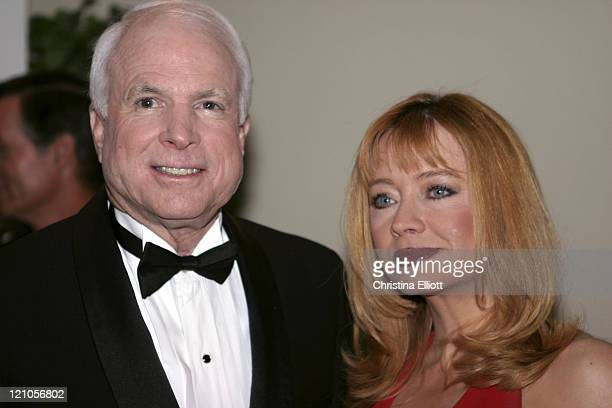 Senator John McCain and Andrea Evans during 38th Annual Victor Awards by the City of Hope at Las Vegas Hilton in Las Vegas Nevada United States