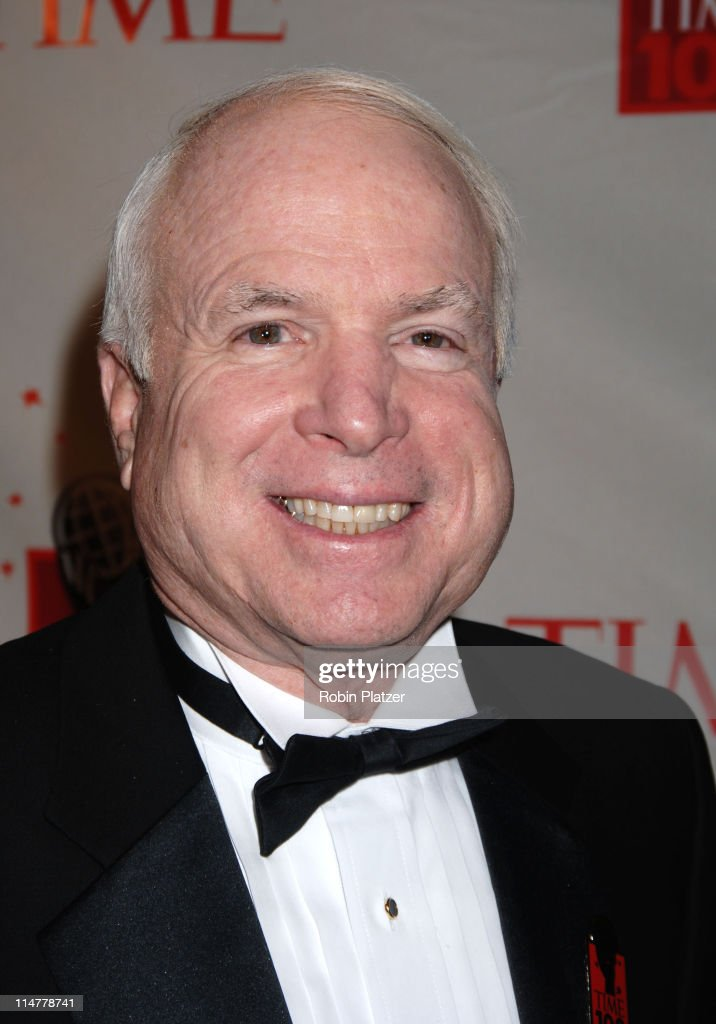 Senator <a gi-track='captionPersonalityLinkClicked' href=/galleries/search?phrase=John+McCain&family=editorial&specificpeople=125177 ng-click='$event.stopPropagation()'>John McCain</a> during Time Magazine's 100 Most Influential People 2006 - Inside Arrivals at Jazz at Lincoln Center in New York City, New York, United States.