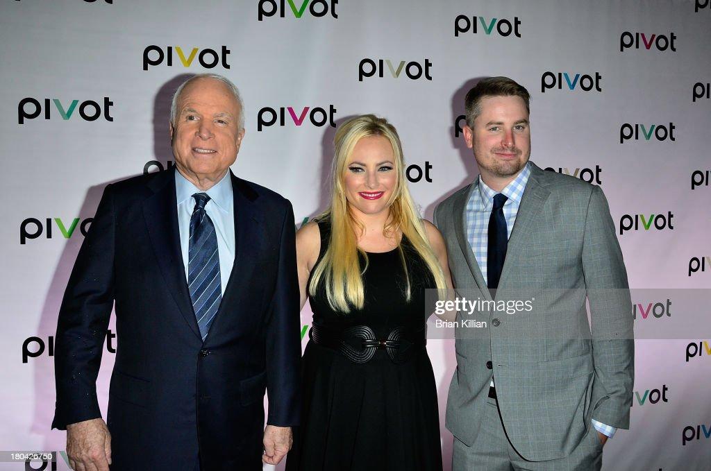 Senator John McCain Meghan McCain and Jimmy McCain attend 'Jersey Strong' and 'Raising McCain'Series New York Premiere at Tribeca Cinemas on...