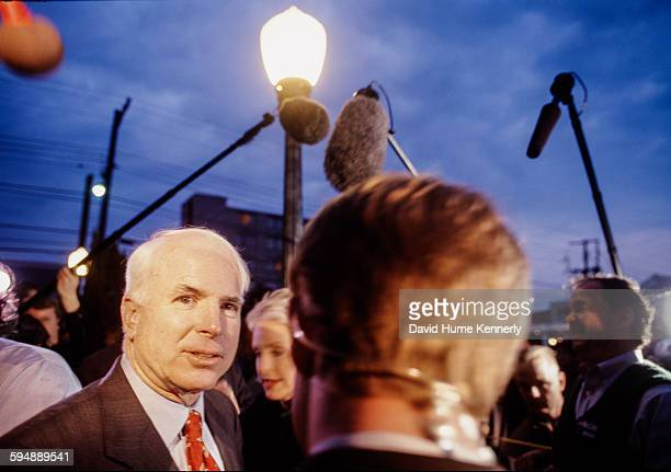 Senator John McCain on the campaign trail January 7 2000 in Columbia South Carolina