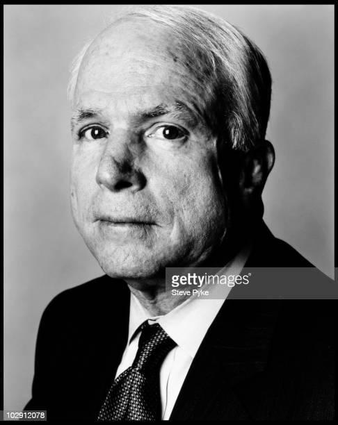 Senator John McCain poses for a portrait shoot in Washington USA