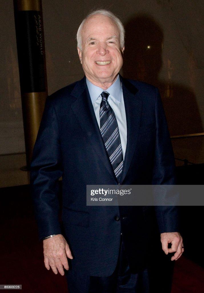 Senator John McCain (R-AZ) walks the red carpet at Some Enchanted Evening: A Musical Birthday Salute to Senator Edward Kennedy at The Kennedy Center on March 8, 2009 in Washington, DC.