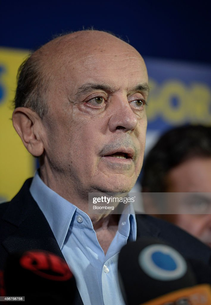 Brazilian Opposition Presidential Candidate Aecio Neves News Conference