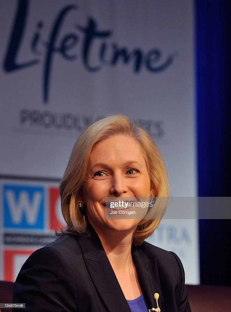 Senator <a gi-track='captionPersonalityLinkClicked' href=/galleries/search?phrase=Kirsten+Gillibrand&family=editorial&specificpeople=4099377 ng-click='$event.stopPropagation()'>Kirsten Gillibrand</a> attends Lifetime Television's 2012 'Every Woman Counts' campaign at Hofstra University on December 2, 2011 in Hempstead, New York.