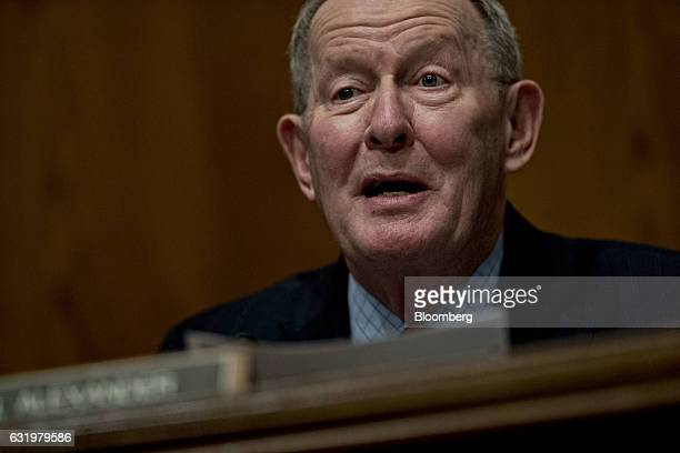 Senator Lamar Alexander a Republican of Tennessee and chairman of the Senate HELP Committee makes an opening statement during a Senate Health...