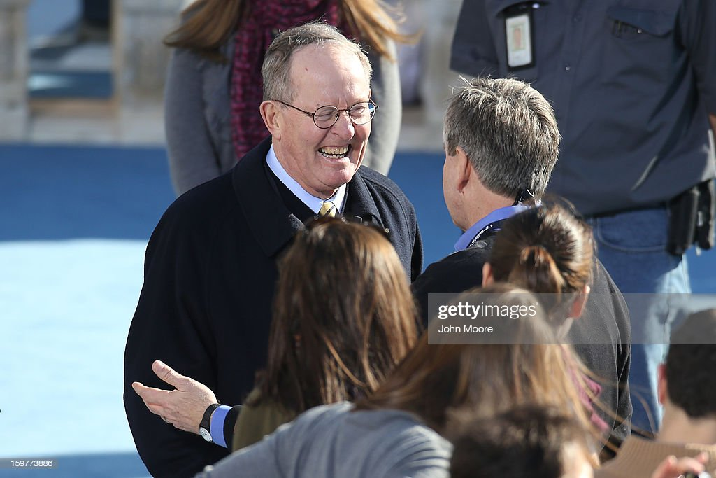 U.S. Senator Lamar Alexander (R-TN) greets people at the U.S. Capitol building as Washington prepares for U.S. President Barack Obama's second inauguration on January 20, 2013 in Washington, DC. Both Obama and U.S. Vice President Joe Biden will be officially sworn in today with a public ceremony for the President taking place on January 21.