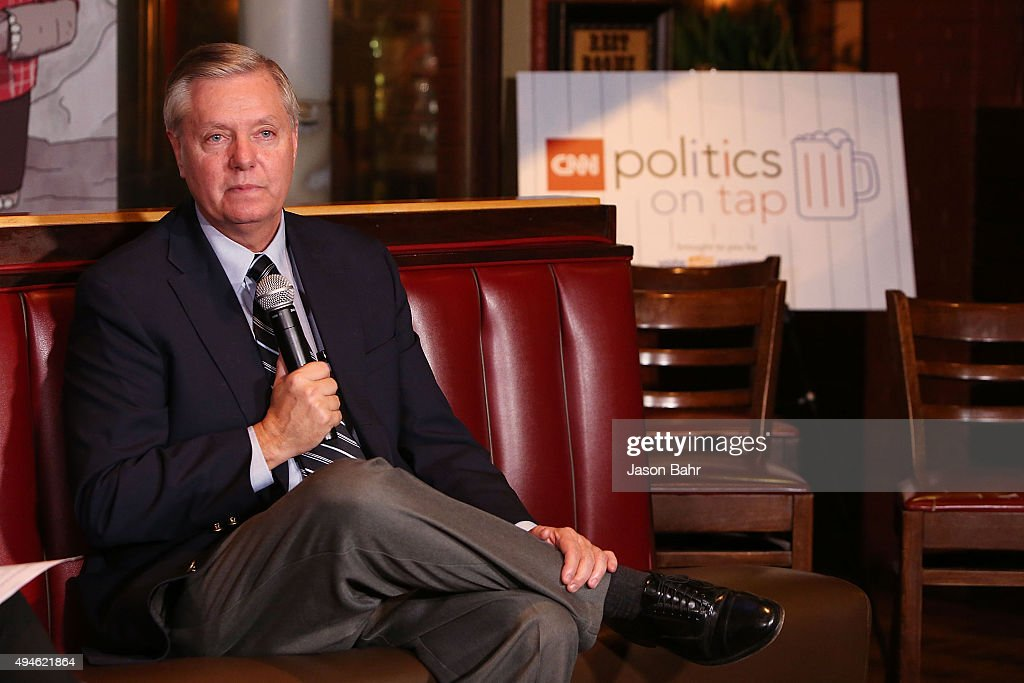 Senator Lindsey Graham is interviewed during CNN's Politics On Tap at Walnut Brewery on October 27, 2015 in Boulder, Colorado. 25763_001