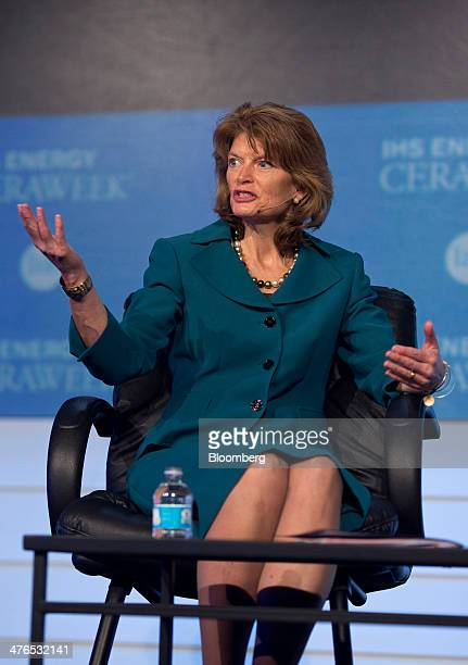 Senator Lisa Murkowski a Republican from Alaska speaks during the 2014 IHS CERAWeek conference in Houston Texas US on Monday March 3 2014 IHS...