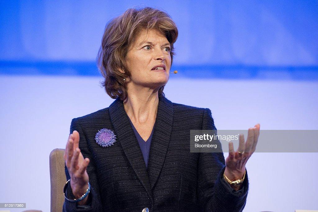 Senator Lisa Murkowski a Republican from Alaska speaks during the 2016 IHS CERAWeek conference in Houston Texas US on Friday Feb 26 2016 CERAWeek in...