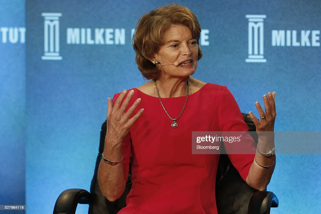 Senator Lisa Murkowski a Republican from Alaska speaks during the annual Milken Institute Global Conference in Beverly Hills California US on Tuesday...