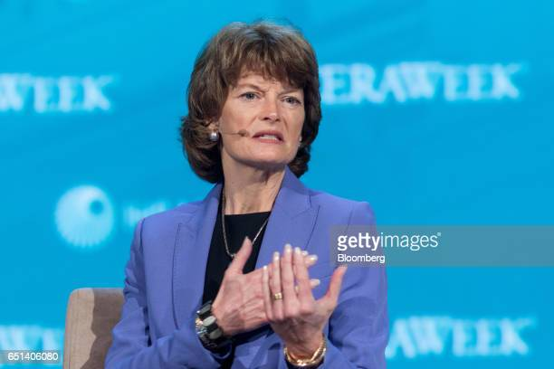 Senator Lisa Murkowski a Republican from Alaska speaks during the 2017 CERAWeek by IHS Markit conference in Houston Texas US on Friday March 10 2017...