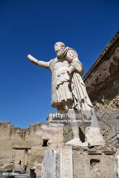 Senator M. Nonius Balbus Statue, Herculaneum, Italy