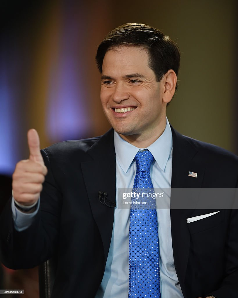 U.S. Senator <a gi-track='captionPersonalityLinkClicked' href=/galleries/search?phrase=Marco+Rubio+-+Pol%C3%ADtico&family=editorial&specificpeople=11395287 ng-click='$event.stopPropagation()'>Marco Rubio</a> announces his candidacy for the Republican presidential nomination At The Freedom Tower at Freedom Tower on April 13, 2015 in Miami, Florida.