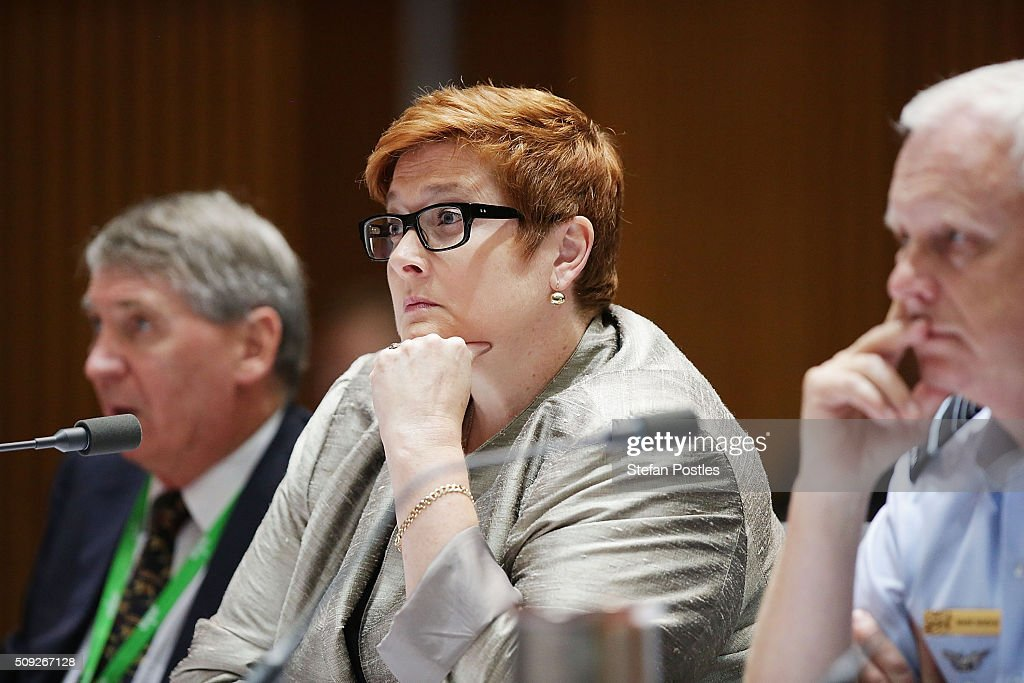 Senator Marise Payne during the Foreign Affairs, Defence and Trade Committee hearing on February 10, 2016 in Canberra, Australia.