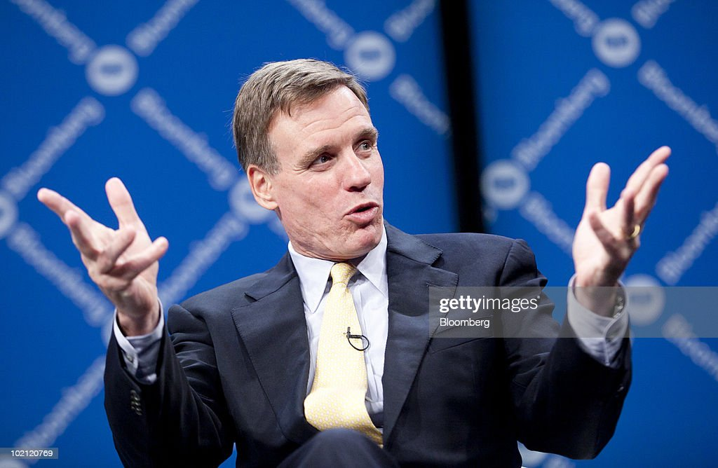 Senator Mark Warner, a Democrat from Virginia, speaks during the Bloomberg Link Boards & Risk Briefing conference in Washington, D.C., U.S., on Tuesday, June 15, 2010. In conjunction with Carnegie Mellon CyLab, the briefing brings together key business, political, and academic leaders to explore critical issues and provoke thoughtful leadership. Photographer: Andrew Harrer/Bloomberg via Getty Images