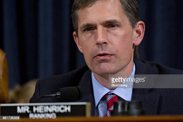 Senator Martin Heinrich a Democrat from New Mexico and ranking member of the Joint Economic Committee makes an opening statement during a hearing...