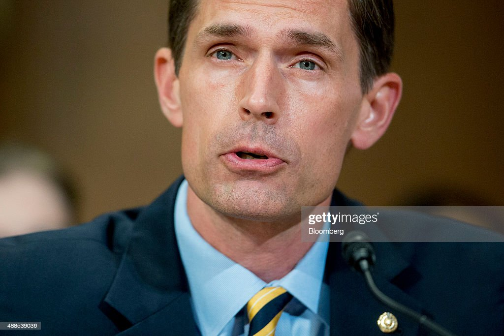 Senator <a gi-track='captionPersonalityLinkClicked' href=/galleries/search?phrase=Martin+Heinrich&family=editorial&specificpeople=5592274 ng-click='$event.stopPropagation()'>Martin Heinrich</a>, a Democrat from New Mexico, speaks during a Senate Environment and Public Works Committee hearing on the Gold King mine disaster in Washington, D.C., U.S., on Wednesday, Sept. 16, 2015. The August spill occurred when contractors for the Environmental Protection Agency (EPA) tried to open the blocked Gold King Mine to address leaks near Silverton, Colorado, accidentally releasing the toxic mining wastewater into the Animas River. Photographer: Andrew Harrer/Bloomberg via Getty Images