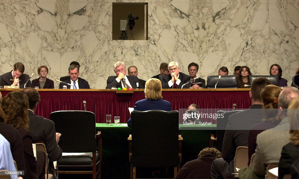 Senator Mary L. Landrieu (D-LA) testifies before the full committee hearing on Tuesday which examined the dangers of cloning and the promise of regenerative medicine, in the Hart Building.