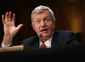 S Senator Max Baucus testifies during his confirmation hearing before the Senate Foreign Relations Committee January 28 2014 on Capitol Hill in...