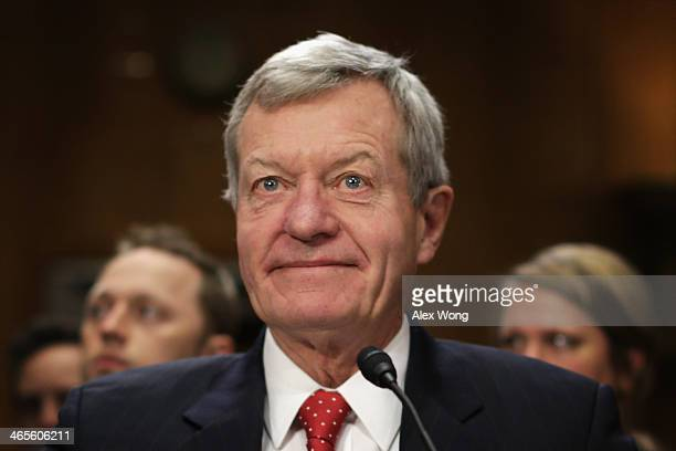 S Senator Max Baucus waits for the beginning of his confirmation hearing before the Senate Foreign Relations Committee January 28 2014 on Capitol...