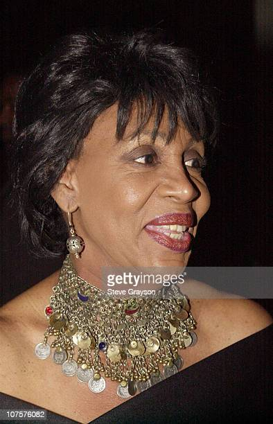 Senator Maxine Waters poses for photographers at the 2001 Annual Soul Train Toyfest holiday celebration cosponsored by MCA Records and CocaCola...