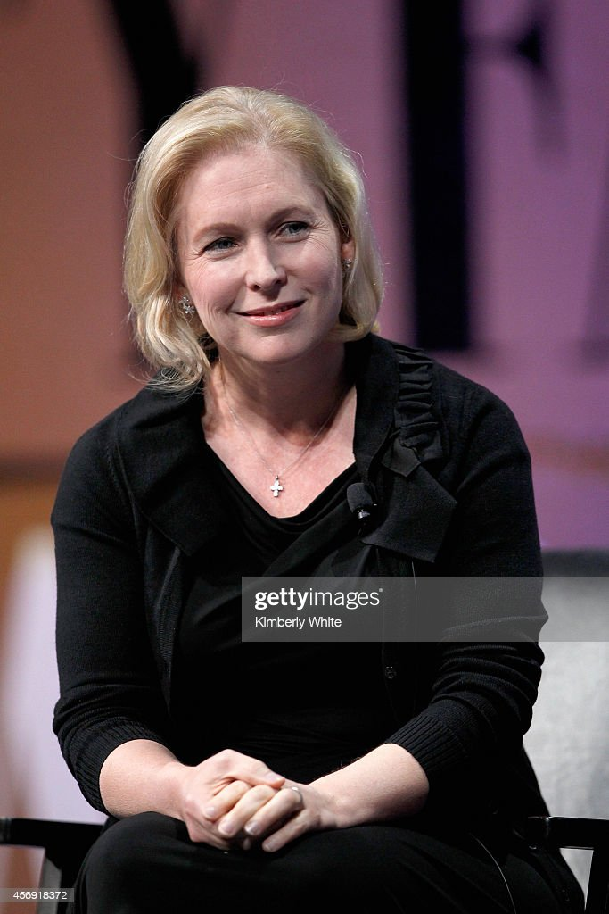 US Senator of New York <a gi-track='captionPersonalityLinkClicked' href=/galleries/search?phrase=Kirsten+Gillibrand&family=editorial&specificpeople=4099377 ng-click='$event.stopPropagation()'>Kirsten Gillibrand</a> speaks onstage during 'Disrupting Politics' at the Vanity Fair New Establishment Summit at Yerba Buena Center for the Arts on October 9, 2014 in San Francisco, California.