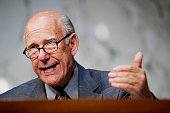 Senator Pat Roberts a Rebublican from Kansas speaks during a Senate Finance Committee hearing on Capitol Hill in Washington DC US on Thursday Oct10...