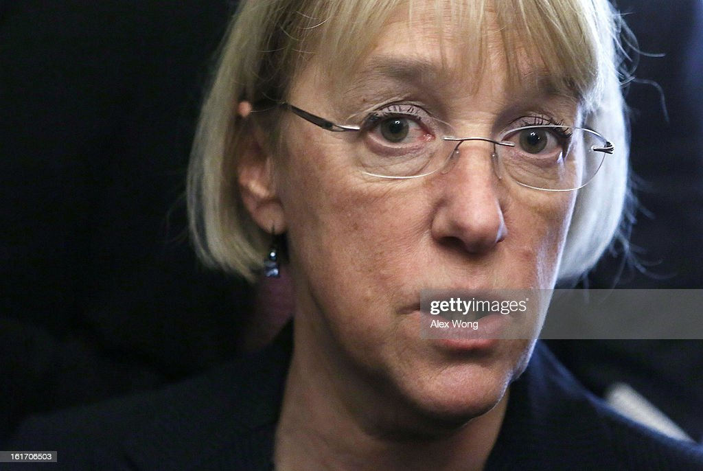 U.S. Senator <a gi-track='captionPersonalityLinkClicked' href=/galleries/search?phrase=Patty+Murray&family=editorial&specificpeople=532963 ng-click='$event.stopPropagation()'>Patty Murray</a> (D-WA) speaks to members of the press at the Capitol February 14, 2013 on Capitol Hill in Washington, DC. The GOP senators are working to hold up the confirmation vote on former Sen. Chuck Hagel (R-NE) to be the next secretary of defense until they get more information from the Obama Administration about last fall's attack on the U.S. consulate in Libya.