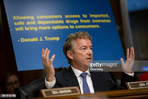 Senator Rand Paul a Republican from Kentucky speaks during a Senate Health Education Labor and Pension Committee nomination hearing for Alex Azar...