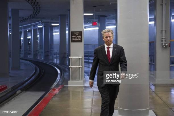 Senator Rand Paul a Republican from Kentucky walks near the Senate Subway in Washington DC US on Thursday July 27 2017 SenateRepublicans are gearing...