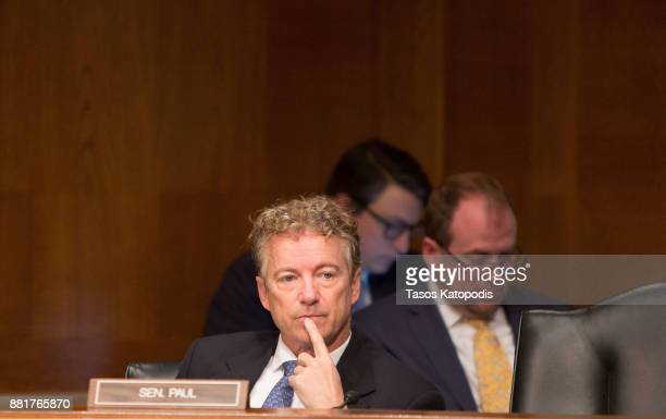 Senator Rand Paul attends full committee hearing on the nomination of Alex Michael Azar II to be Health and Human Services Secretary on Capital Hill...