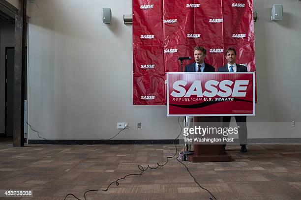 Senator Rand Paul makes an appearance with Ben Sasse at The MasterCraft in Omaha Nebraska on Monday August 4 2014