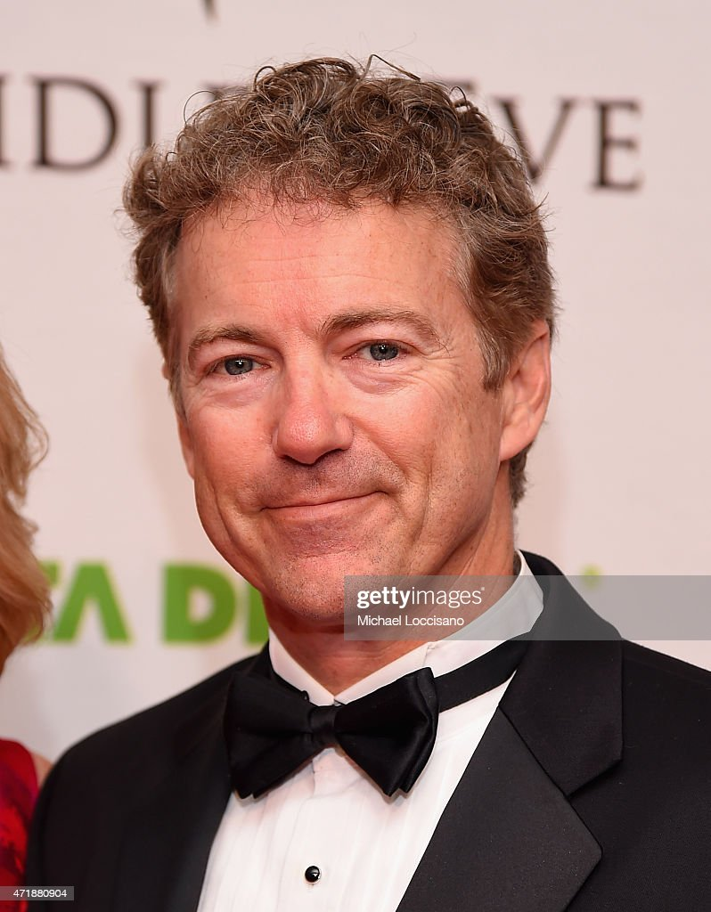 Senator <a gi-track='captionPersonalityLinkClicked' href=/galleries/search?phrase=Rand+Paul&family=editorial&specificpeople=6939188 ng-click='$event.stopPropagation()'>Rand Paul</a> of Kentucky attends the 141st Kentucky Derby - Unbridled Eve Gala at Galt House Hotel & Suites on May 1, 2015 in Louisville, Kentucky.