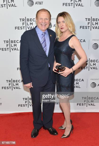 Senator Raymond Lesniak and Salena Carroll attend 'The Last Animals' Premiere during 2017 Tribeca Film Festival at Cinepolis Chelsea on April 22 2017...