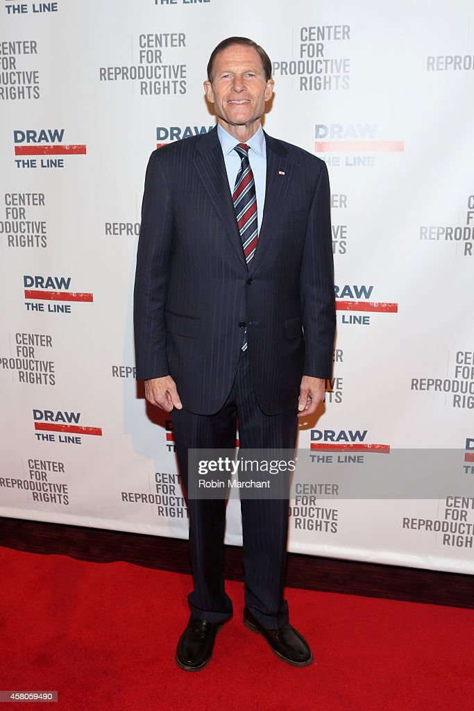 Senator <a gi-track='captionPersonalityLinkClicked' href=/galleries/search?phrase=Richard+Blumenthal&family=editorial&specificpeople=1036916 ng-click='$event.stopPropagation()'>Richard Blumenthal</a> attends the Center for Reproductive Rights 2014 Gala at Jazz at Lincoln Center on October 29, 2014 in New York City.