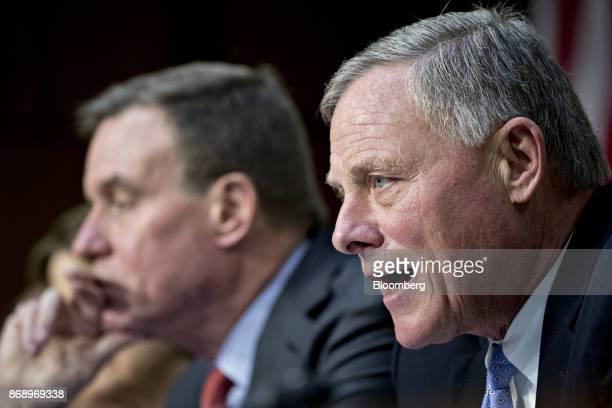 Senator Richard Burr a Republican from North Carolina and chairman of the Senate Intelligence Committee speaks during a hearing on social media...